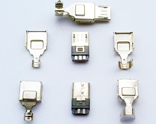 Short Boady Micro Usb Connector, Pads in Both Sides